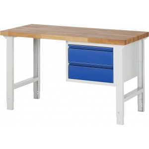 RAU Werkbank Serie Basic-7 | Höhenverstellbar | 2 Schubladen