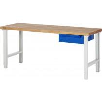 RAU Arbeitstisch / Werkbank Serie Basic-7 | Höhenverstellbar | 1 Schublade